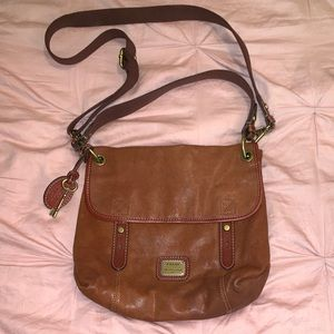 Fossil Leather Shoulder Bag w Multiple Straps